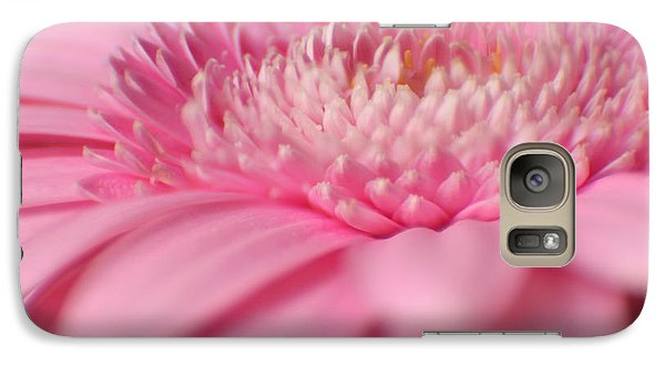 Galaxy Case featuring the photograph Soft Pink Gerbera Daisy by Eden Baed