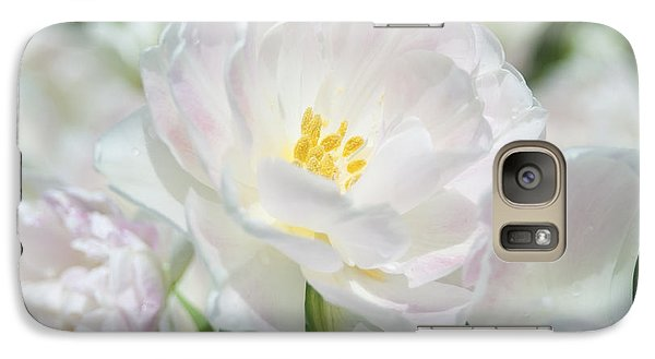 Galaxy Case featuring the photograph White Flower Is Beautiful by Haleh Mahbod