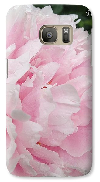 Galaxy Case featuring the digital art Soft Pink Peony by Jeannie Rhode
