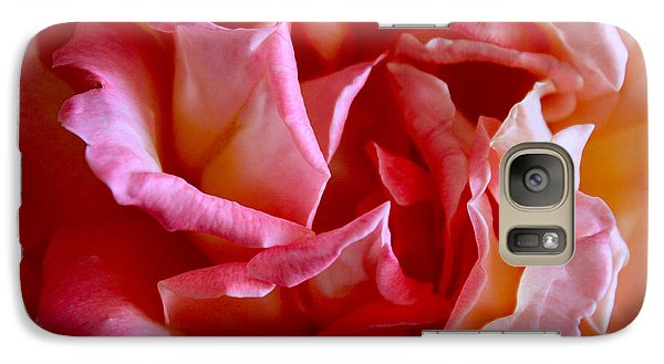 Galaxy Case featuring the photograph Soft Pink Petals Of A Rose by Janice Rae Pariza