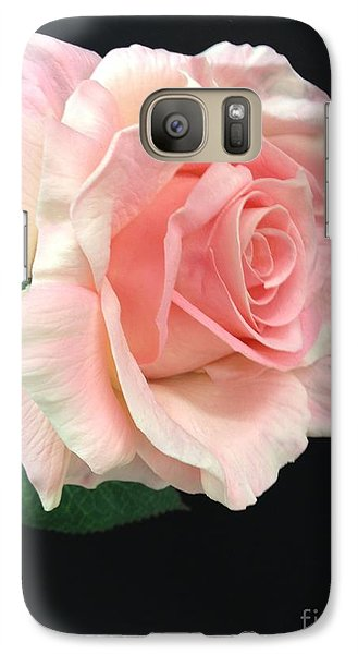 Galaxy Case featuring the photograph Soft Pink Rose 1 by Jeannie Rhode