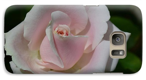 Galaxy Case featuring the photograph Soft Pink Rose by Jeannie Rhode