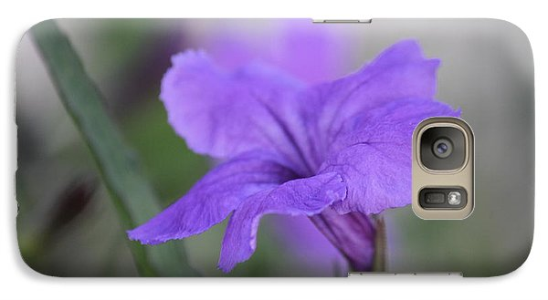 Galaxy Case featuring the photograph Soft Purple Floral by Penny Meyers