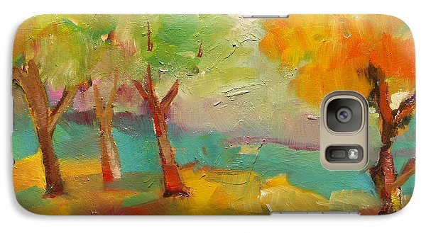 Galaxy Case featuring the painting Soft Trees by Michelle Abrams