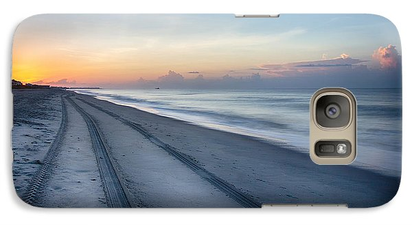 Galaxy Case featuring the photograph Soft Waves Early Morning  by Alan Raasch