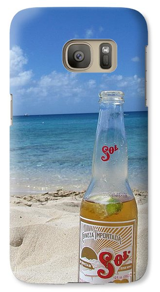 Galaxy Case featuring the photograph Sol On The Beach by Meagan  Visser