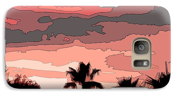 Galaxy Case featuring the digital art Solana Beach Sunset 1 by Kirt Tisdale