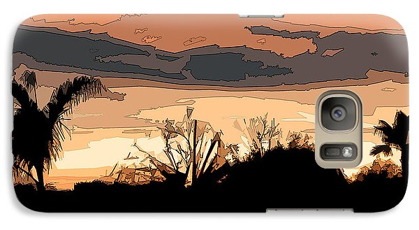Galaxy Case featuring the digital art Solana Beach Sunset 2 by Kirt Tisdale