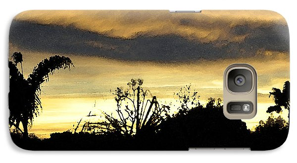 Galaxy Case featuring the digital art Solana Beach Sunset 3 by Kirt Tisdale