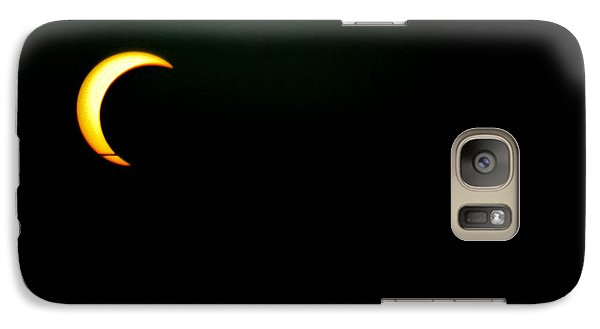 Galaxy Case featuring the photograph Solar Eclipse 2012 by Angela J Wright