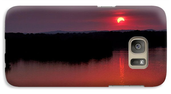 Galaxy Case featuring the photograph Solar Eclipse Sunset by Jason Politte