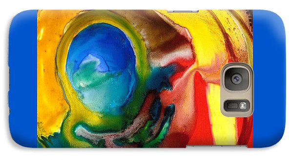 Galaxy Case featuring the painting Solar Flare by Catherine Redmayne