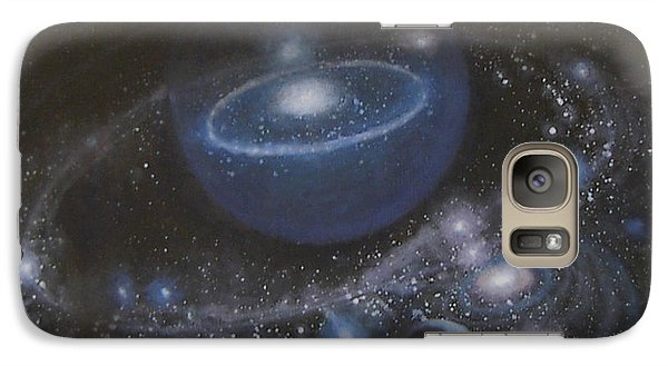 Galaxy Case featuring the painting Solar System by Min Zou