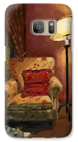 Galaxy Case featuring the painting Sold - And Sit Right Down by Nancy  Parsons