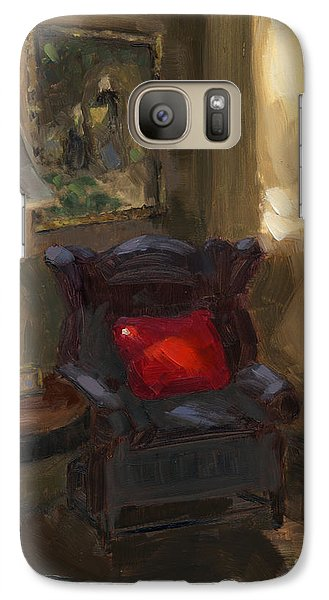 Galaxy Case featuring the painting Sold First Light by Nancy  Parsons
