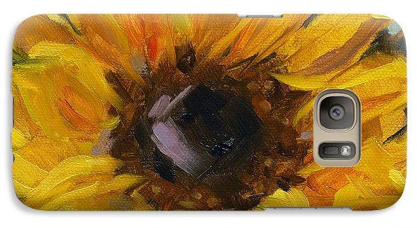 Galaxy Case featuring the painting Sold Flower Power by Nancy  Parsons
