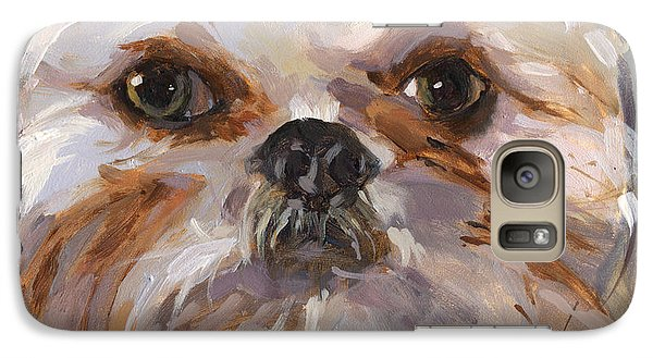 Galaxy Case featuring the painting Sold I'll Be Your Best Friend by Nancy  Parsons