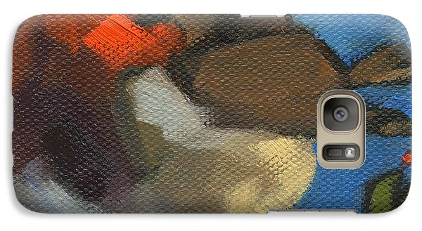 Galaxy Case featuring the painting Sold - Rock'n Baby Robin by Nancy  Parsons
