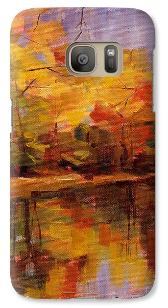 Galaxy Case featuring the painting Sold- Show Your True Colors by Nancy  Parsons