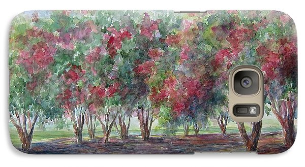 Galaxy Case featuring the painting Sold Southern Crepe Myrtles by Gloria Turner