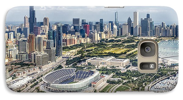 Soldier Field Galaxy S7 Case - Soldier Field And Chicago Skyline by Adam Romanowicz