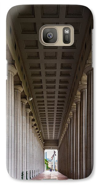 Soldier Field Galaxy S7 Case - Soldier Field Colonnade by Steve Gadomski
