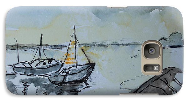 Galaxy Case featuring the painting Solemn Wreck. Justin by Rosemary Colyer