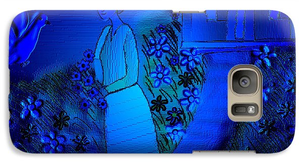 Galaxy Case featuring the digital art Soliloquy by Latha Gokuldas Panicker