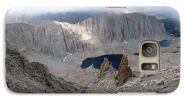 Galaxy Case featuring the photograph Solitary Hiker Panorama by Alan Socolik