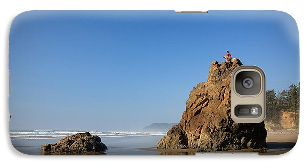 Galaxy Case featuring the photograph Solitary Ocean View by Karen Lee Ensley
