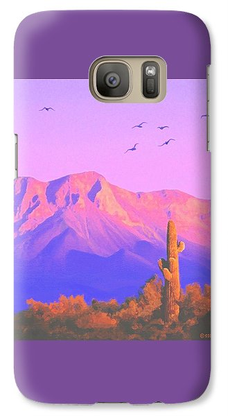 Galaxy Case featuring the painting Solitary Silent Sentinel by Sophia Schmierer