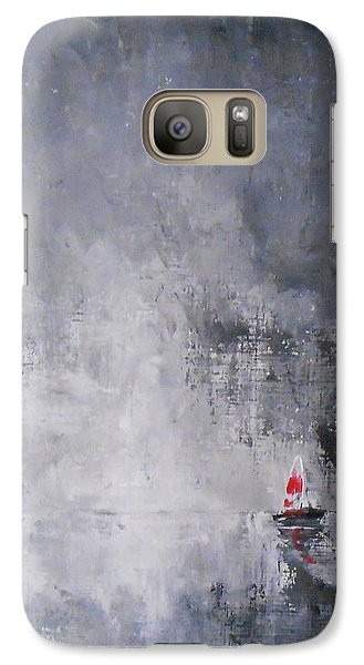 Galaxy Case featuring the painting Solitude 2 by Jane  See