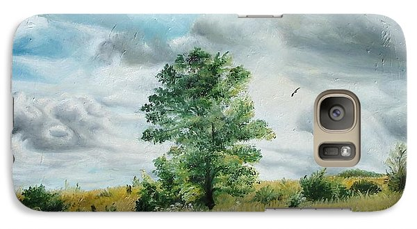 Galaxy Case featuring the painting Solitude by Sorin Apostolescu