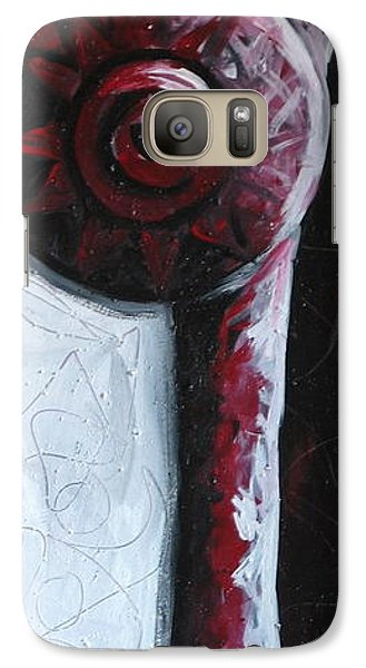 Galaxy Case featuring the painting Solo Indian by Lance Headlee