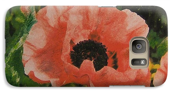 Galaxy Case featuring the painting Solo Poppy by Richard James Digance