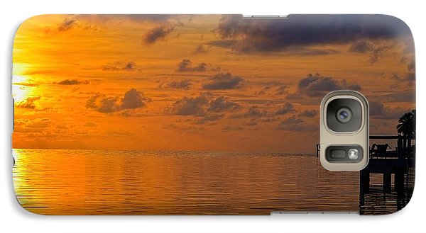 Galaxy Case featuring the photograph Sombrero Beach Sunrise by Pamela Blizzard