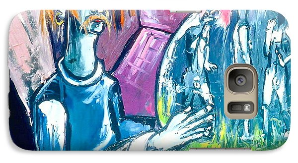 Galaxy Case featuring the painting Somebody Bigger Has Control Of You Who In Turn Is Under The Control Of Somebody Bigger by Kenneth Agnello