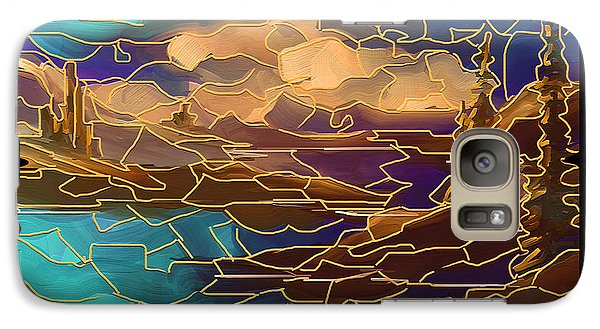 Galaxy Case featuring the painting Somehow by Steven Lebron Langston