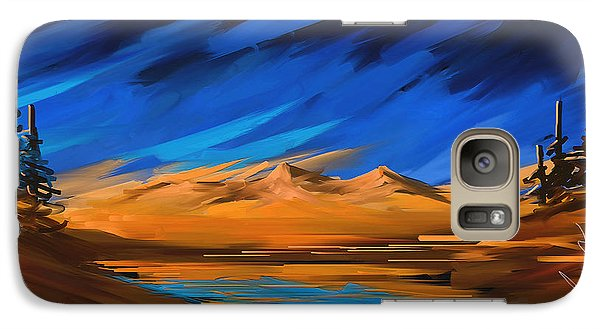 Galaxy Case featuring the painting Someplace On My Mind by Steven Lebron Langston