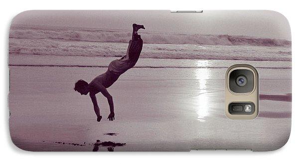 Galaxy Case featuring the photograph Somersalting On Bali Black Sand Beach by Mukta Gupta