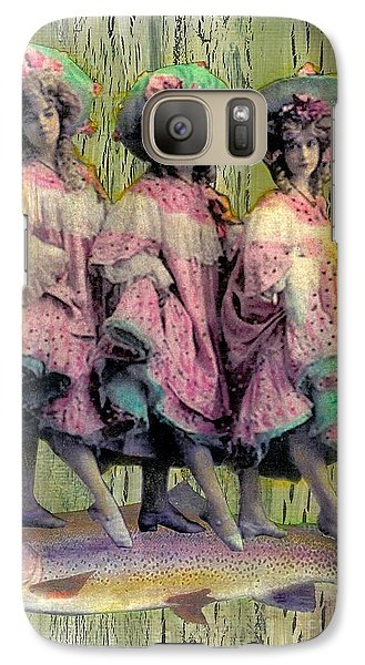 Galaxy Case featuring the mixed media Somethin' Fishy by Desiree Paquette