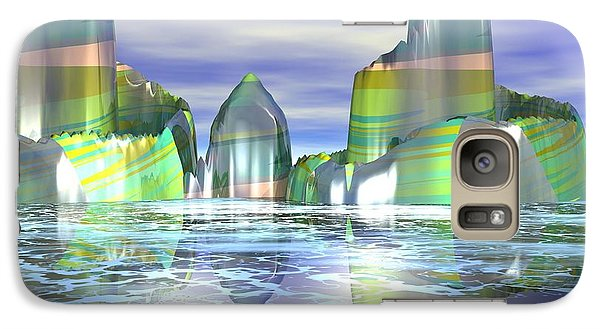 Galaxy Case featuring the digital art Something Colorful by Jacqueline Lloyd
