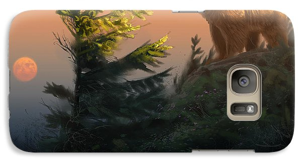 Something On The Air - Grizzly Galaxy Case by Aaron Blaise