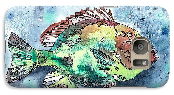 Galaxy Case featuring the painting Something's Fishy by Barbara Jewell