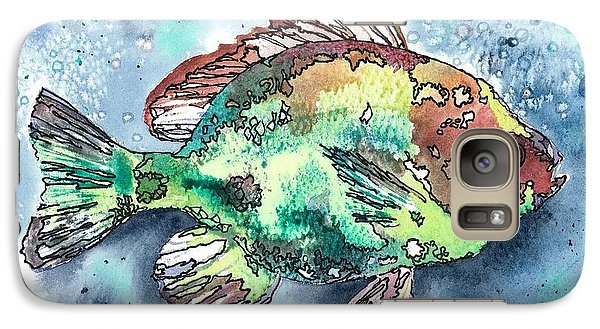 Galaxy Case featuring the painting Something's Fishy Two by Barbara Jewell
