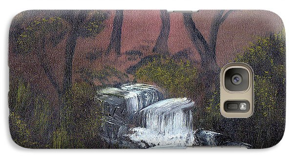 Galaxy Case featuring the painting Somewhere Along A Waterfall by J Cheyenne Howell