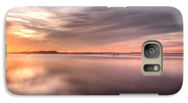Galaxy Case featuring the photograph Somewhere Between That Setting Sun by Wade Brooks