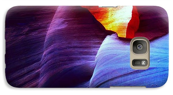 Galaxy Case featuring the photograph Somewhere In America Series - Blue In Antelope Canyon by Lilia D