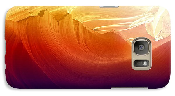 Galaxy Case featuring the photograph Somewhere In America Series - Colorful Light In Antelope Canyon by Lilia D