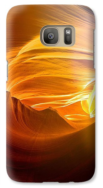 Galaxy Case featuring the photograph Somewhere In America Series - Gold Colors In Antelope Canyon by Lilia D
